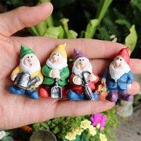 FairyCome A Set of 7pcs Fairy Garden Tiny Gnomes Mini Fairy Elves Pixie Miniature Garden Resin Figurine Figure Statue Ornaments 210727