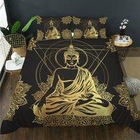 Porcellana Set di biancheria da letto solenni di Buddha Set di Bedding 3D Design Design Camera da letto di alta qualità Letto singolo Letto matrimoniale Multi Dimensione trapunta Copertura e cuscino Twin Full Queen King