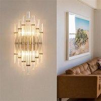 Wall Lamps Luxury Crystal Lamp Living Room TV Background Light Modern Minimalist Villa Club Hall Home Decoration Lighting