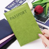 Card Holders High Quality Solid Color Multi-Card Passport Purse Holder Protector Wallet Business Soft Cover