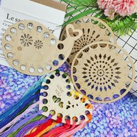Sewing Notions & Tools Wood Pendant Cross Stitch Embroidery Floss Holder For Thread Organizer DIY Craft Handmade Storage Tool