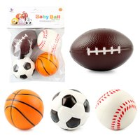 4 Pcs Mini Foam Sports Stress Balls Fidget Toys for Kids Adults Includes Baseball Football Basketball Soccer Toy Little Big Game Party Decoration Travel Games