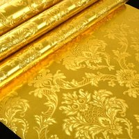 Wallpapers 3D Stereoscopic Relief Gold Foil Wallpaper For Living Room Bedroom Ceiling Luxury Glitter Damascus Striped
