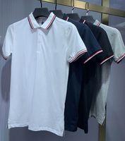 2021 İtalya Erkek Polo Gömlek Adam T Gömlek Yüksek Sokak Nakış Katı Renk Polos Jartiyer Baskı En Kaliteli Cottom Giyim Tees