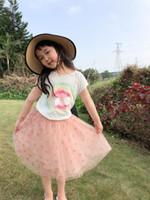 Livraison Gratuite Jupe de fille pour enfants 2021 Été Nouveau Style T-shirt à manches courtes Sweet tutu jupe bébé fille vêtements