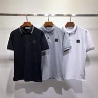 Envío gratis camisetas para hombres Polos de alta calidad de manga corta de manga corta de algodón de algodón de verano camiseta de lujo nueva diseñador polo camisa de alta calle camiseta