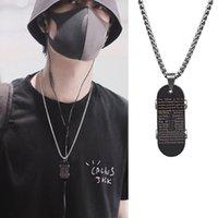 Roller Halskette Schriftkreuz Kreuz Männer Titan Stahl Pfeife Anhänger Frauen Koreanische Hip Hop Mode Zubehör Trend Khlv