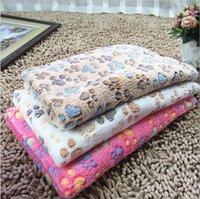 الحيوانات الأليفة بطانية لطيف باو القدم طباعة الكلب البطانيات الناعمة الفانيلا النوم الحصير جرو القط الدافئ السرير غطاء ملحقات بطانيات النوم 233 S2