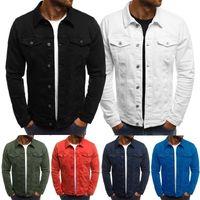 Men's Jackets ZOGAA Men Denim Cowboy Casual Slim Fit Jean Jacket Autumn Male Pockets Solid Streetwear Coat Outwear Overcoats