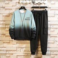 Men's Tracksuits 2021 Spring Autumn Set Hoodies + Pants Suit Fleece Sweatshirt Sportswear Casual Jogging