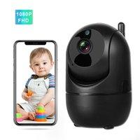 1080p Baby Monitor WiFi IR Night Vision Deux voies Audio Vidéo Audio Nanny Intercom Auto Piste sans fil WirelrsS Home Babyphone Caméra 210618
