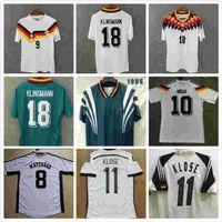 Top 1988 1990 1992 Германия Ретро Футбол Джетки 1994 1998 2004 Klinsmann Футбольная футболка Klose Jersey Matthaus Maillot de op