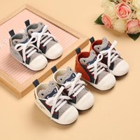 First Walkers Spring And Autumn Style 0-18 Months Baby Learns To Walk Shoe Soft Sole Canvas Lovely Cartoon Leisure Shoes