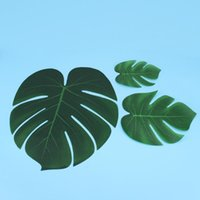 60pcs Simulation Monstera Leaves Artificial Plants Leaves Home Decoration Party Supplies (6 8 13 Inch, 20 Pieces Each)