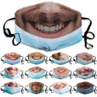 Maschera viso personalizzata con maschere di espressioni divertenti per gli uomini donne che stampa le orecchie appese a prova di polvere e anti-haze facemasks lavabile FY9373