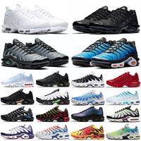TN Plus Zapatillas para correr Hombres Mujeres Entrenadores Triple Negro Blanco Puesta de sol Hyper Blue University Red Oreo Mens Deportes Caussure Sneakers Tamaño 36-46