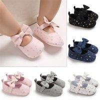 أول مشوا قماش طفل الأميرة الأحذية طفل فتاة سرير المولد BOWKNOT ناعمة وحصص أحذية رياضية