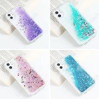 Líquido Dinâmico QuickSand Phone Case para iPhone 12 Capas Glitter Fundas iPhone 11 Pro Max Max Mini XR 7 8 SE 2021 x X P Plus Cover Recentemente Free Drop Ship