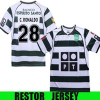 الرجعية 2003 04 سبورتنج لشبونة كرة القدم الفانيلة رونالدو لكرة القدم قمصان أعلى جودة لشبونة خمر المخملية الراعي camisa دي فيوتول مايوه