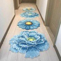 Nordic Art Peony Pattern Hood Carpet Цветочный Коврик Мягкий Стекающий Главный Коврик для гостиной Спальня Спальня Волшеный Коврик