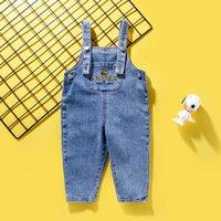 Snoopy Wear Boys 'und Girls' Jeans Hosenträger Herbst 2021 Frühe Frühlings-Kinderhosen
