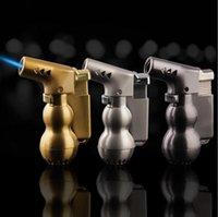 Yeni Kabak Vazo Şekilli Bütan Alev Çakmak Hiçbir Gaz Mini Kaynak Torch Mutfak Sigara İçilebilir Çakmaklar Sigara İçilebilir Sigara Aracı