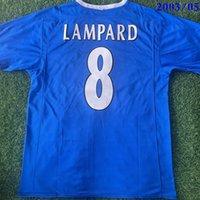 أعلى 2003/2005 الرجعية لكرة القدم الفانيلة lampard 8 drogba 15 روبن makelele ج. كول تيري لكرة القدم قميص كلاسيكي 2002/2003 هوم فوبرول قميص مايلوت زولا 25 طويلة الأكمام حجم S-XXL