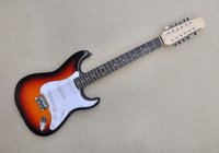 Factory Custom 12 Strings Electric Guitar with Rosewood Fretboard,White Pickguard,Chrome Hardware,Can be Customized