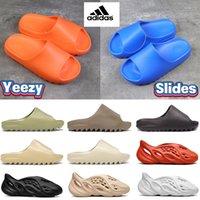 Kutusu Adidas Yeezy Slaytları ile Terlik Sandalet Ayakkabı Enfleve Turuncu Enfora Kemik Reçine Kurum Toprak Kahverengi Üçlü Siyah Ararat Slayt Sneakers