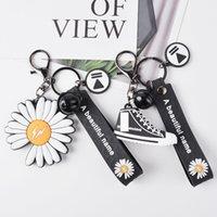Wanghong stesso Little Little Daisy Canvas Shoes Keychain Student Bag Pendant Car Korean Car Portachiavi regalo
