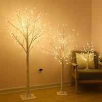 شجرة الإضاءة أضواء شجرة مضيئة الصمام عيد الميلاد محاكاة مصباح محاكاة الفرع شكل مصباح المنزل عطلة الديكور
