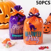 Gift Wrap 50PCS Birthday Decor Party Trick Or Treat Halloween Cookie Package Candy Bags Food Pocket