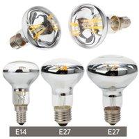 Лампочки Урожай Эдисон Светодиодная лампа R50 R63 R80 E27 E14 Ретро Отражатель R80 E27 E14 Retro Reflicle Filicate 4W 5W 6W Энергосберегающий свет Замените лампу накаливания 60 Вт