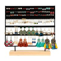 Stojak na kolczyk Stojak 3-Tier Stud Holder Biżuteria Organizator Studia 144 otworów z podstawą drewna 211013