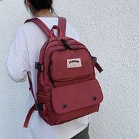School start Canvas Backpack women travel leisure men outdoor waterproof basketball bag schoolbag College Students YEH5