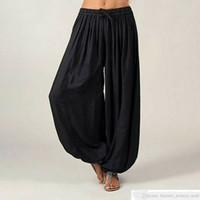 Mulheres homem Ali Baba Calças Aladdin Afegão Elástico Genie Hippy Jumpsuit Algodão Harem Solto Casual Senhoras Calças Dança Yoga Pantssoccer Jersey