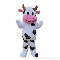 2018 Discount Factory Sale Professional Farm Dairy Cow Mascot Costume Fursuit Fancy Dress Free Ship
