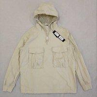 21SS 윈드 브레이커 망 톱츠 탑스티 니 재킷 유령 피스 코튼 풀오버 나일론 텔라 풀오버 재킷 남성 여성 코트 패션 겉옷