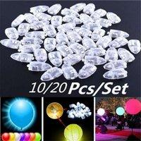 20pcs / 세트 멀티 컬러 플래시 led 공 램프 풍선 빛 웨딩 신부 쇼 생일 할로윈 파티 장식 용품