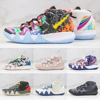 Kybrid S2 EP Des Chausures What The Kyrie Neon Camo Mens Basketball Shoes Desert Camo Sashiko Pack Men Sports Trainer Sneakers Size 7-12