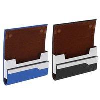 Sacs de rangement Ultra Mince ID Porte-cartes Creative Hommes Business Case Homme Crédit Portefeuille Porte-banque Pu cuir 1pcs