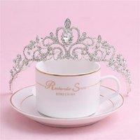 Hair Clips & Barrettes Wedding Tiara Luxury Rhinestones Crystal Bridal Headband Pageant Princess Crown Accessories For Women Headpiece ML