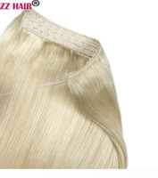 "16 ""-28"" 100% Brezilyalı Remy İnsan Saç 180g Balık Şarap Halo Saç Insan Saç Uzatma 1 ADET Set Klip Olmayan Doğal Straig"