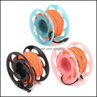 Pool Water Sports Outdoorspool & Aessories 30M Plastic Wire Reel Dual Heads Hook Diving Marker Buoy Rope Wheel Guide Thread Spool Swimming D