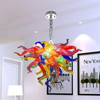 Multi Color Shine Coral Lampadario Lampadario Led Art Glass Pendente Luci Pendenti Della Stanza Decorazione A Mano Blown Vetro Accetta Personalizzazione