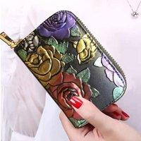 Card Holders Wallet Bag Women's Leather Holder Zipper Small Purse Carteira Masculina
