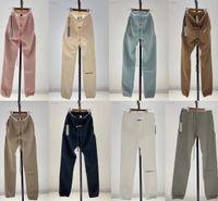 2021 Yeni Katı Renk Sweatpants Erkek Kadın 1: 1 Joggers Pamuk Sis Pantolon Rahat Essentials Pantolon GVD2