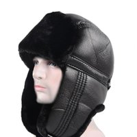 Cycling Caps & Masks Universal Ear Flap Hats Skin-friendly Trapper Breathable Winter Outdoor Bomber Hat Ski For Men