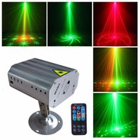 Effects 24 Mode Pattern Laser Projector Light LED RG Stage Disco Flash Lamp For Year Dance Floor Christmas Party Indoor Show