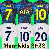 21 22 Tottenham Bale Jersey Jersey Reguilon Spurs Camisa de Futebol 2021 2022 Kits Top Kane Dele Camiseta de Futbol Filho Filho Maillot Foot 123